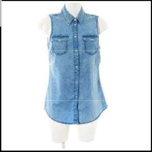Forever21 sleeveless denim shirt